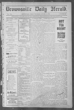 Primary view of object titled 'Brownsville Daily Herald (Brownsville, Tex.), Vol. 10, No. 147, Ed. 1, Thursday, January 16, 1902'.