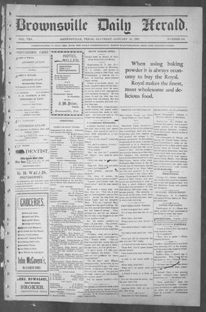 Primary view of object titled 'Brownsville Daily Herald (Brownsville, Tex.), Vol. 10, No. 149, Ed. 1, Saturday, January 18, 1902'.