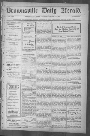 Primary view of object titled 'Brownsville Daily Herald (Brownsville, Tex.), Vol. 10, No. 153, Ed. 1, Thursday, January 23, 1902'.