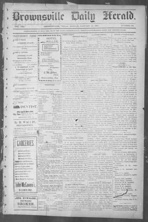 Primary view of object titled 'Brownsville Daily Herald (Brownsville, Tex.), Vol. 10, No. 156, Ed. 1, Monday, January 27, 1902'.