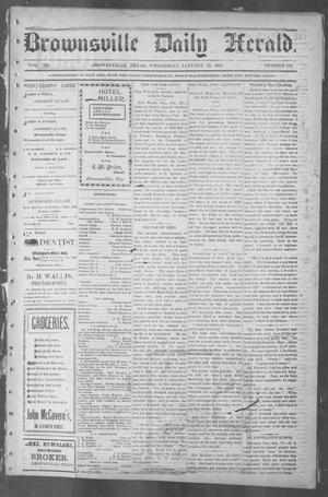 Primary view of object titled 'Brownsville Daily Herald (Brownsville, Tex.), Vol. 10, No. 159, Ed. 1, Wednesday, January 29, 1902'.