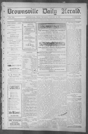 Primary view of object titled 'Brownsville Daily Herald (Brownsville, Tex.), Vol. 10, No. 160, Ed. 1, Thursday, January 30, 1902'.