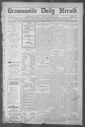 Primary view of object titled 'Brownsville Daily Herald (Brownsville, Tex.), Vol. 10, No. 161, Ed. 1, Friday, January 31, 1902'.
