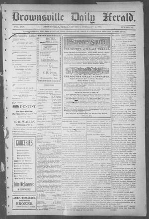 Primary view of object titled 'Brownsville Daily Herald (Brownsville, Tex.), Vol. 10, No. 162, Ed. 1, Saturday, February 1, 1902'.