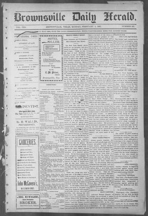 Primary view of object titled 'Brownsville Daily Herald (Brownsville, Tex.), Vol. 10, No. 163, Ed. 1, Monday, February 3, 1902'.