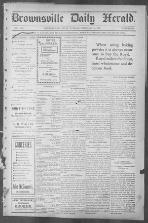 Primary view of object titled 'Brownsville Daily Herald (Brownsville, Tex.), Vol. 10, No. 164, Ed. 1, Tuesday, February 4, 1902'.