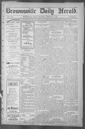 Primary view of object titled 'Brownsville Daily Herald (Brownsville, Tex.), Vol. 10, No. 165, Ed. 1, Wednesday, February 5, 1902'.