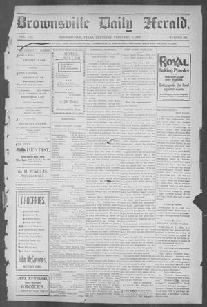 Primary view of object titled 'Brownsville Daily Herald (Brownsville, Tex.), Vol. 10, No. 166, Ed. 1, Thursday, February 6, 1902'.