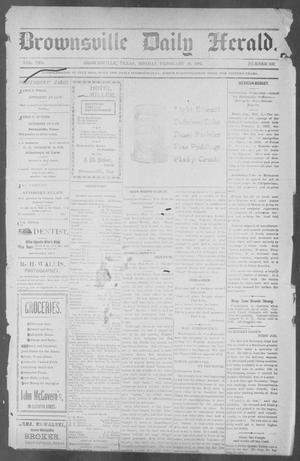 Primary view of object titled 'Brownsville Daily Herald (Brownsville, Tex.), Vol. 10, No. 169, Ed. 1, Monday, February 10, 1902'.