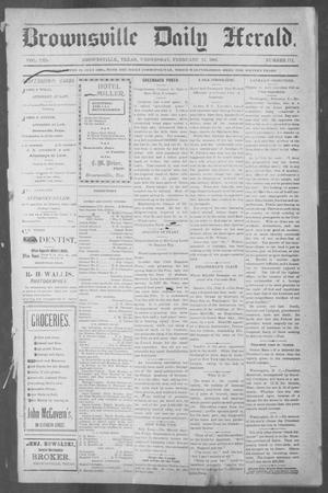 Primary view of object titled 'Brownsville Daily Herald (Brownsville, Tex.), Vol. 10, No. 171, Ed. 1, Wednesday, February 12, 1902'.