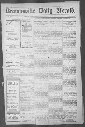 Primary view of object titled 'Brownsville Daily Herald (Brownsville, Tex.), Vol. 10, No. 179, Ed. 1, Friday, February 21, 1902'.