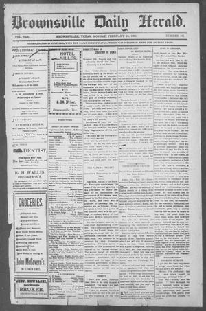 Primary view of object titled 'Brownsville Daily Herald (Brownsville, Tex.), Vol. 10, No. 181, Ed. 1, Monday, February 24, 1902'.
