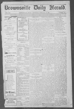 Primary view of object titled 'Brownsville Daily Herald (Brownsville, Tex.), Vol. 10, No. 183, Ed. 1, Wednesday, February 26, 1902'.