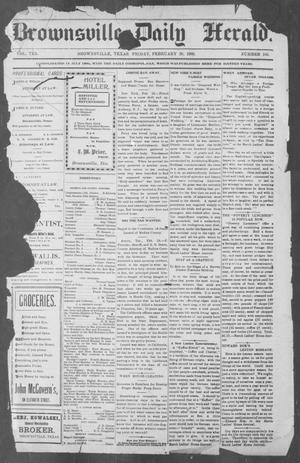 Primary view of object titled 'Brownsville Daily Herald (Brownsville, Tex.), Vol. 10, No. 185, Ed. 1, Friday, February 28, 1902'.