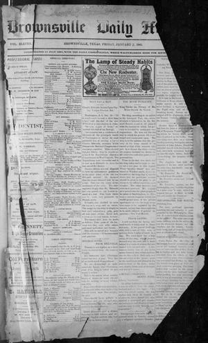 Primary view of object titled 'The Brownsville Daily Herald. (Brownsville, Tex.), Vol. ELEVEN, No. 259, Ed. 1, Friday, January 2, 1903'.