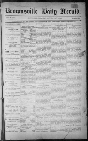Primary view of object titled 'The Brownsville Daily Herald. (Brownsville, Tex.), Vol. ELEVEN, No. 260, Ed. 1, Saturday, January 3, 1903'.