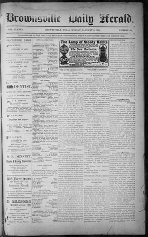 Primary view of object titled 'The Brownsville Daily Herald. (Brownsville, Tex.), Vol. ELEVEN, No. 261, Ed. 1, Monday, January 5, 1903'.