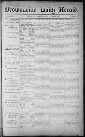 Primary view of object titled 'The Brownsville Daily Herald. (Brownsville, Tex.), Vol. ELEVEN, No. 262, Ed. 1, Tuesday, January 6, 1903'.