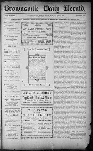 Primary view of object titled 'The Brownsville Daily Herald. (Brownsville, Tex.), Vol. ELEVEN, No. 268, Ed. 1, Tuesday, January 13, 1903'.