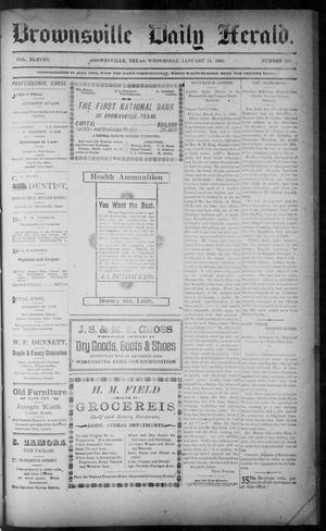 Primary view of object titled 'The Brownsville Daily Herald. (Brownsville, Tex.), Vol. ELEVEN, No. 269, Ed. 1, Wednesday, January 14, 1903'.