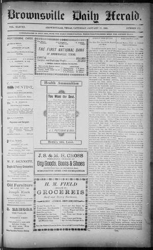 Primary view of object titled 'The Brownsville Daily Herald. (Brownsville, Tex.), Vol. ELEVEN, No. 272, Ed. 1, Saturday, January 17, 1903'.