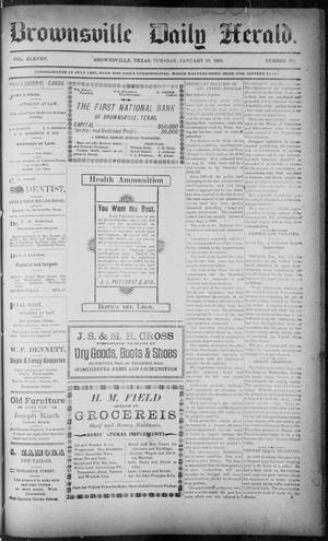 Primary view of object titled 'The Brownsville Daily Herald. (Brownsville, Tex.), Vol. ELEVEN, No. 274, Ed. 1, Tuesday, January 20, 1903'.