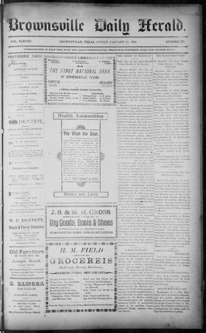 Primary view of object titled 'The Brownsville Daily Herald. (Brownsville, Tex.), Vol. ELEVEN, No. 277, Ed. 1, Friday, January 23, 1903'.