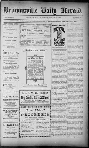 Primary view of object titled 'The Brownsville Daily Herald. (Brownsville, Tex.), Vol. ELEVEN, No. 280, Ed. 1, Tuesday, January 27, 1903'.
