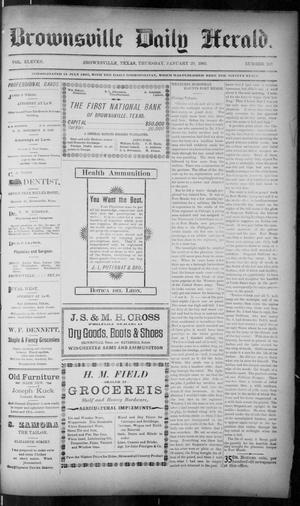 Primary view of object titled 'The Brownsville Daily Herald. (Brownsville, Tex.), Vol. ELEVEN, No. 282, Ed. 1, Thursday, January 29, 1903'.