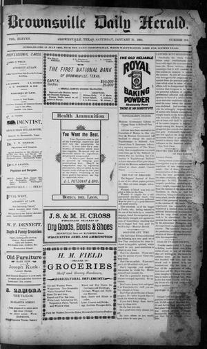 Primary view of object titled 'The Brownsville Daily Herald. (Brownsville, Tex.), Vol. ELEVEN, No. 284, Ed. 1, Saturday, January 31, 1903'.