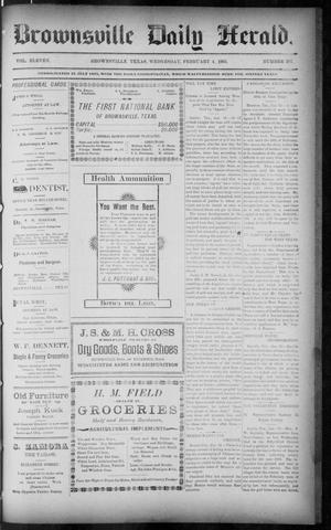 Primary view of object titled 'The Brownsville Daily Herald. (Brownsville, Tex.), Vol. ELEVEN, No. 287, Ed. 1, Wednesday, February 4, 1903'.