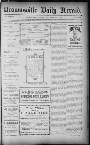Primary view of object titled 'The Brownsville Daily Herald. (Brownsville, Tex.), Vol. ELEVEN, No. 290, Ed. 1, Saturday, February 7, 1903'.