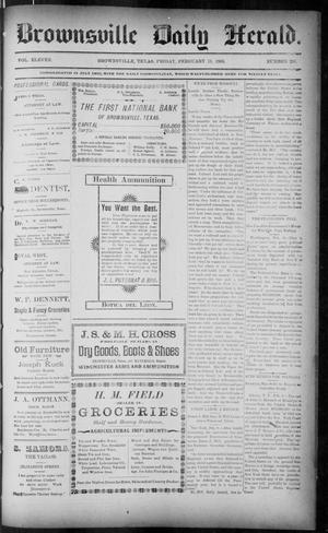 Primary view of object titled 'The Brownsville Daily Herald. (Brownsville, Tex.), Vol. ELEVEN, No. 295, Ed. 1, Friday, February 13, 1903'.