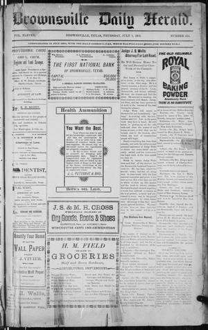 Primary view of The Brownsville Daily Herald. (Brownsville, Tex.), Vol. 11, No. 414, Ed. 1, Thursday, July 2, 1903