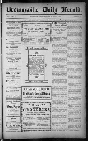Primary view of The Brownsville Daily Herald. (Brownsville, Tex.), Vol. 12, No. 8, Ed. 1, Tuesday, July 14, 1903