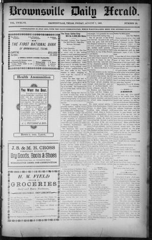 Primary view of The Brownsville Daily Herald. (Brownsville, Tex.), Vol. 12, No. 29, Ed. 1, Friday, August 7, 1903