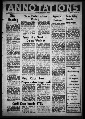 Annotations (Houston, Tex.), Vol. 1, No. 5, March 2, 1973