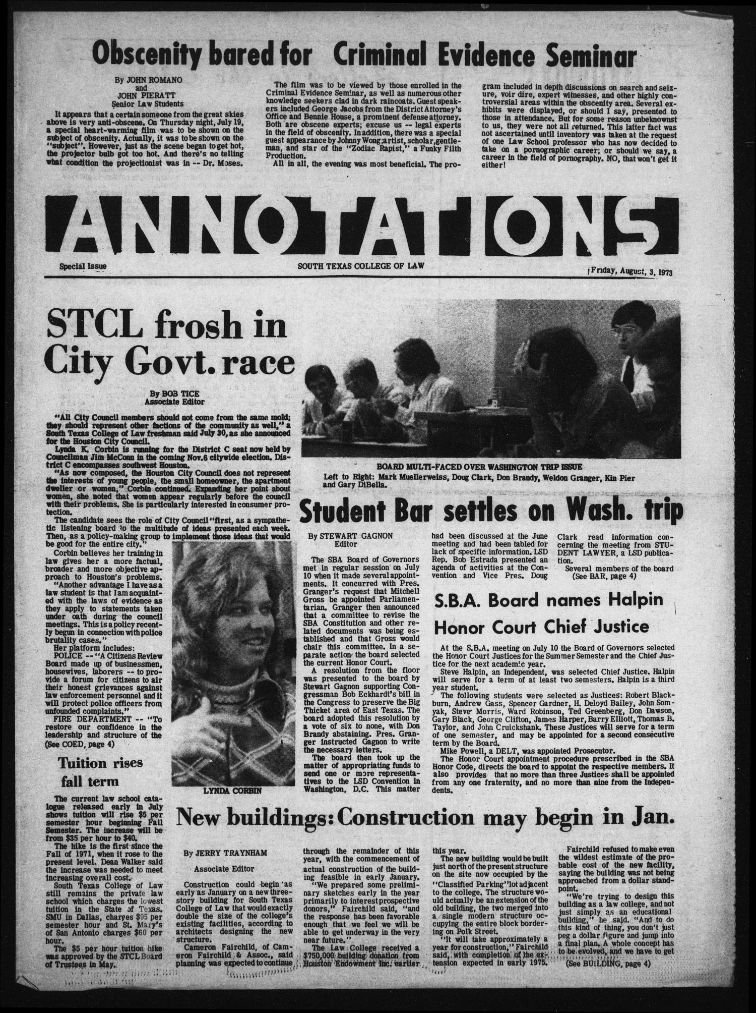 Annotations (Houston, Tex.), August 3, 1973                                                                                                      [Sequence #]: 1 of 4