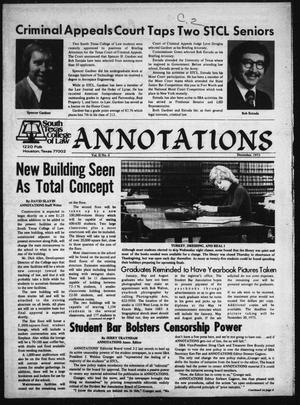 South Texas College of Law, Annotations (Houston, Tex.), Vol. 2, No. 4, December, 1973