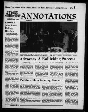 South Texas College of Law, Annotations (Houston, Tex.), Vol. 3, No. 2, November, 1974