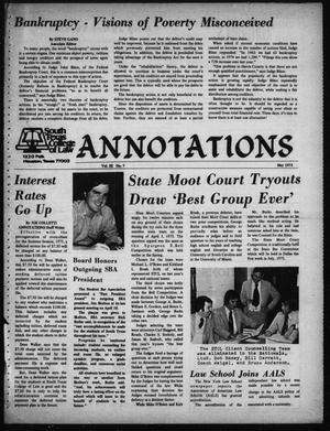 South Texas College of Law, Annotations (Houston, Tex.), Vol. 3, No. 7, May, 1975