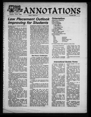 Primary view of object titled 'South Texas College of Law, Annotations (Houston, Tex.), Vol. 5, No. 6, December, 1976'.