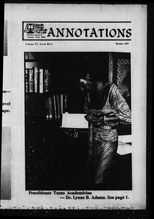 Primary view of object titled 'South Texas College of Law, Annotations (Houston, Tex.), Vol. 6, No. 3, October, 1977'.