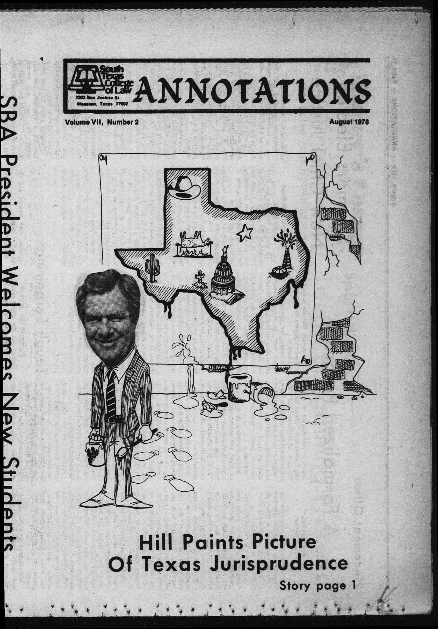 South Texas College of Law, Annotations (Houston, Tex.), Vol. 7, No. 2, August, 1978                                                                                                      [Sequence #]: 1 of 13