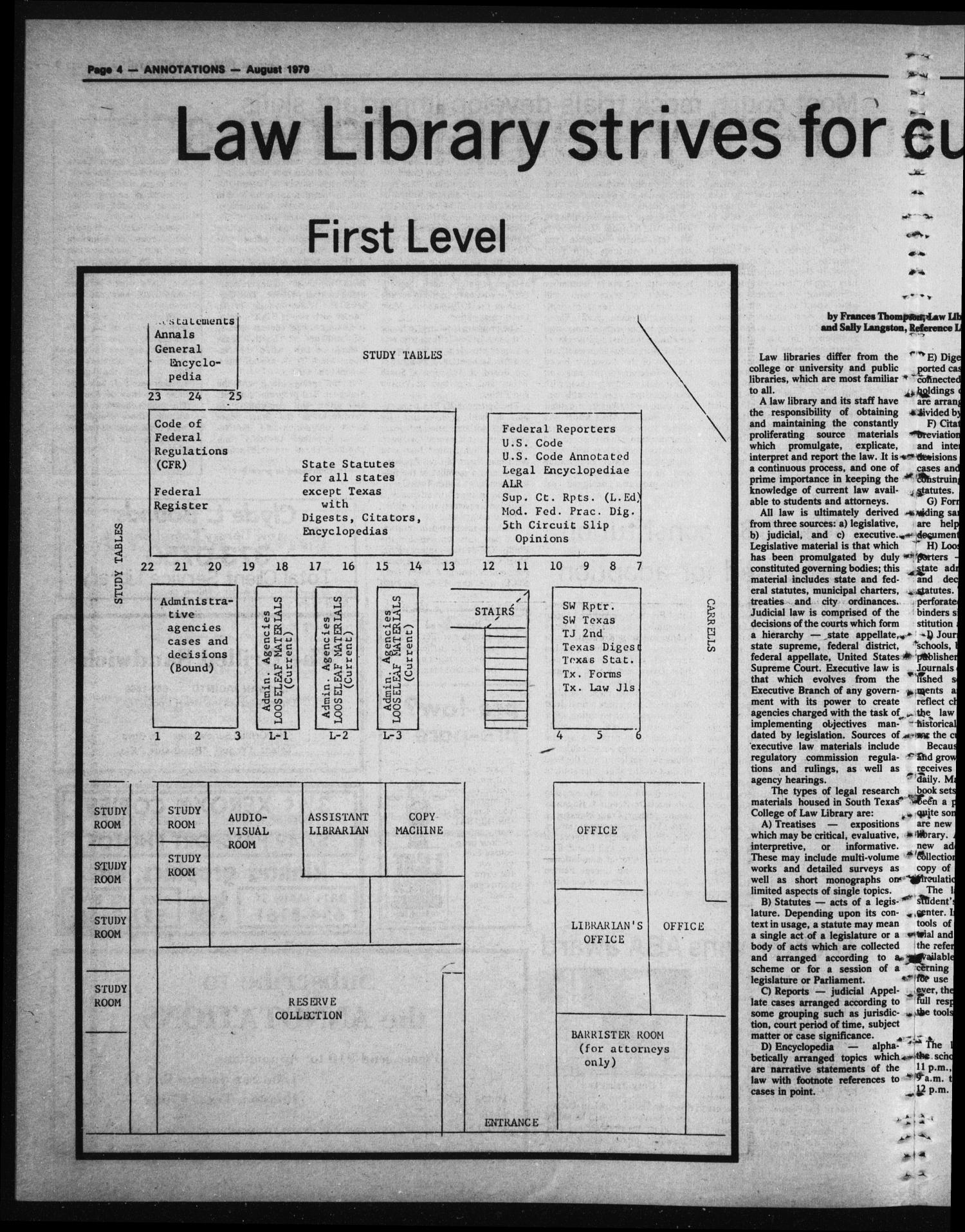 South Texas College of Law, Annotations (Houston, Tex.), Vol. 8, No. 1, August, 1979                                                                                                      [Sequence #]: 5 of 9