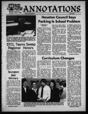 Primary view of object titled 'South Texas College of Law, Annotations (Houston, Tex.), Vol. 8, No. 8, April, 1980'.