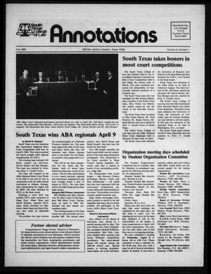 South Texas College of Law, Annotations (Houston, Tex.), Vol. 11, No. 1, July, 1983