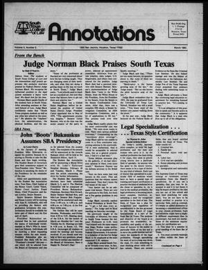 Primary view of object titled 'South Texas College of Law, Annotations (Houston, Tex.), Vol. 10, No. 5, March, 1983'.