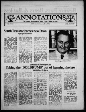 Annotations (Houston, Tex.), Vol. 17, No. 7, Ed. 1, April/May, 1989
