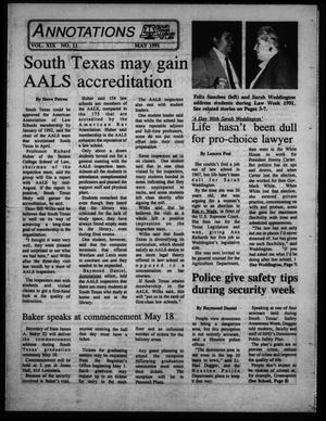 Annotations, South Texas College of Law (Houston, Tex.), Vol. 19, No. 11, Ed. 1, May, 1991
